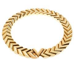 Louis Vuitton Unchain V Gold Tone Choker Necklace