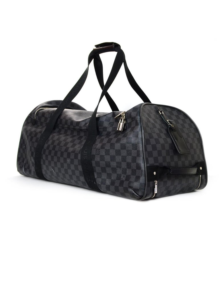 7191b0366146 Women s or Men s Louis Vuitton Unisex Damier Graphite Canvas Neo Eole 65  Rolling Luggage For Sale