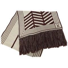 "Louis Vuitton Unisex Long Wool Scarf 72""x18"""