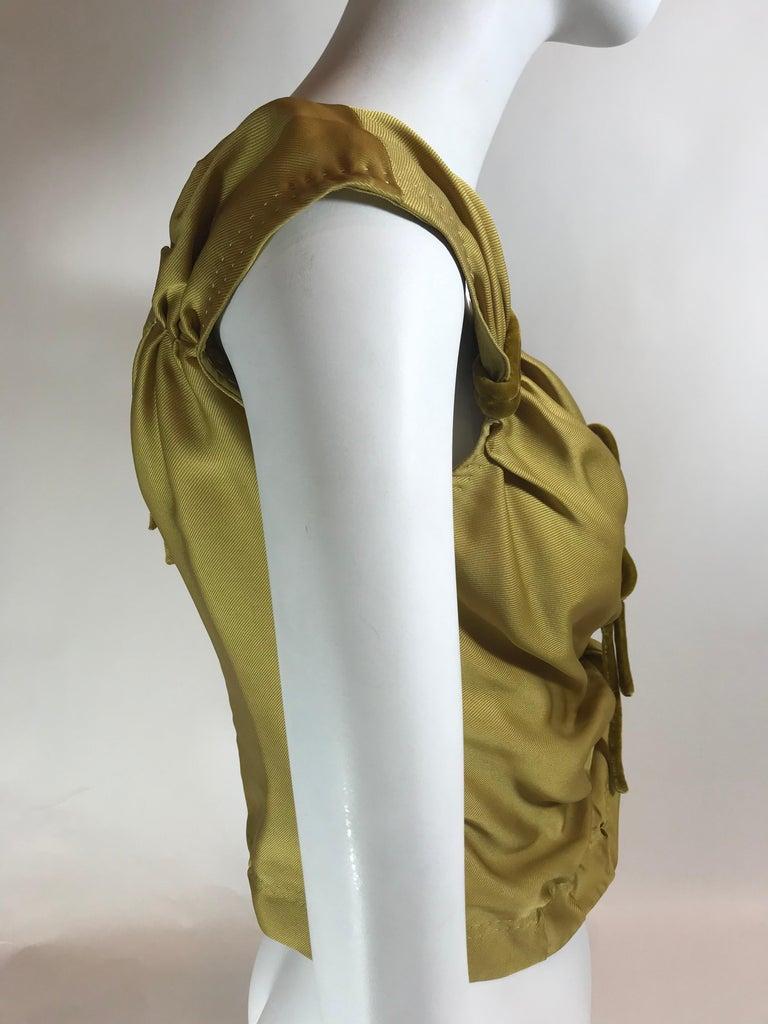 Brown Louis Vuitton V-Neck Sleeveless Top For Sale