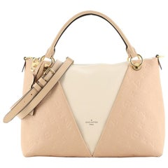 Louis Vuitton V Tote Monogram Empreinte Leather MM