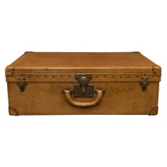Louis Vuitton 'Vache Naturelle' Tan Leather Suitcase, circa 1935