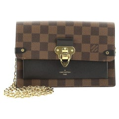 Louis Vuitton Vavin Chain Wallet NM Damier with Leather