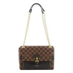 Louis Vuitton Vavin Handbag Damier with Leather PM
