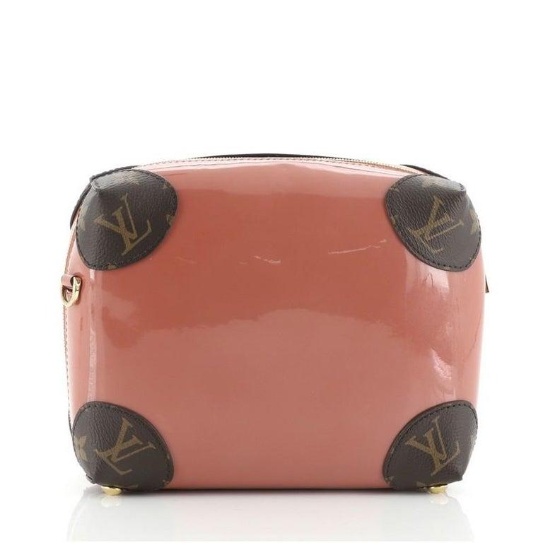 Brown Louis Vuitton Venice Handbag Vernis with Monogram Canvas