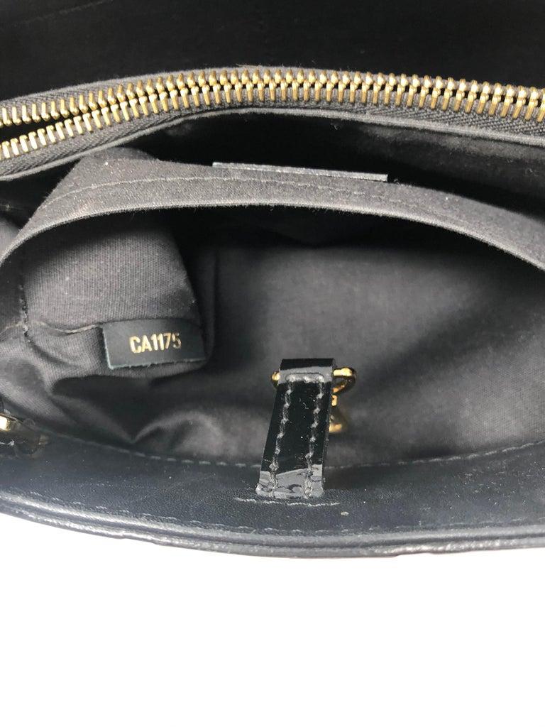 Louis Vuitton Vernis Black Montaigne BB Bag For Sale 6