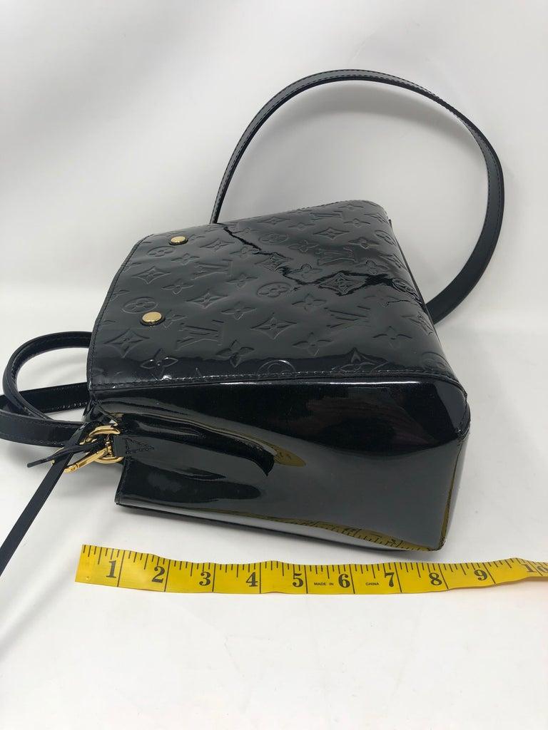 Louis Vuitton Vernis Black Montaigne BB Bag For Sale 9