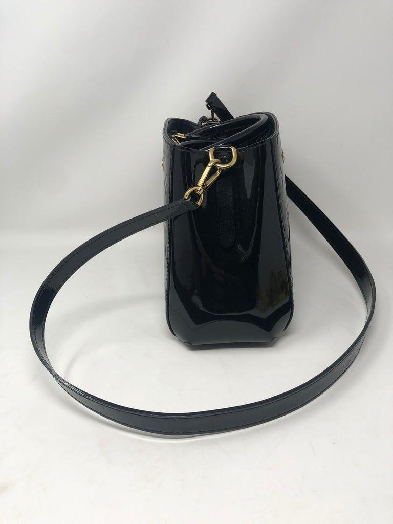 Louis Vuitton Vernis Black Montaigne BB Bag For Sale 3