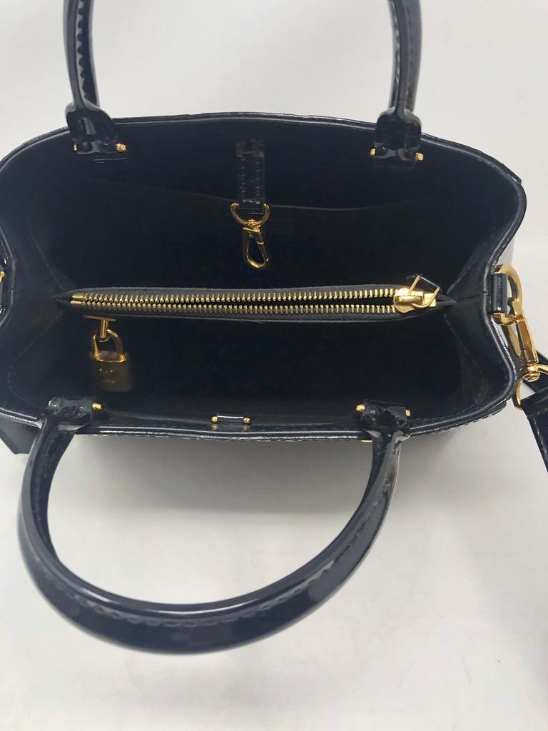 Louis Vuitton Vernis Black Montaigne BB Bag For Sale 5