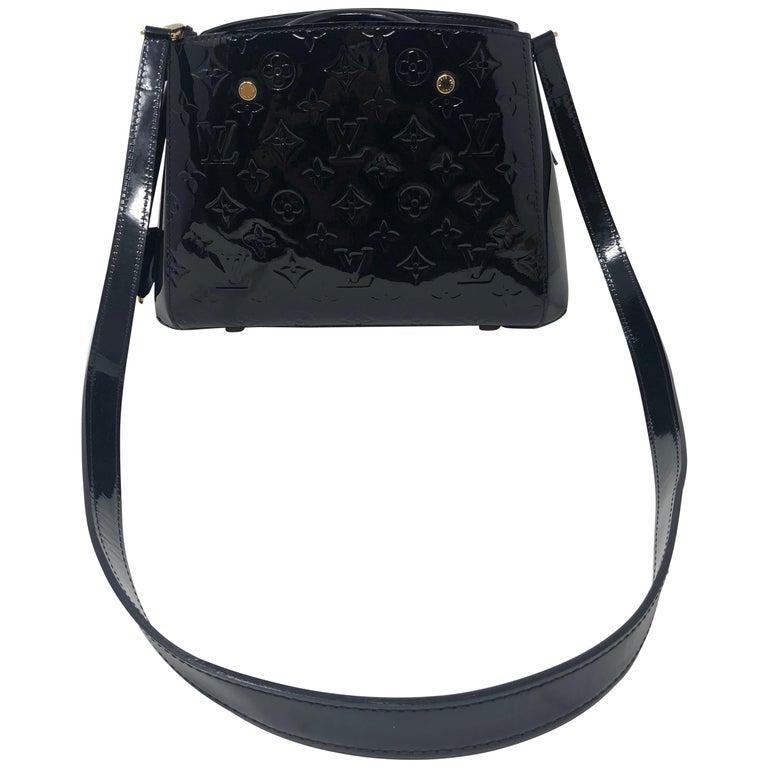 Louis Vuitton Vernis Black Montaigne BB Bag For Sale