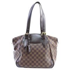 Louis Vuitton Verona Damier Mm 4lr0213 Ebene Coated Canvas Shoulder Bag