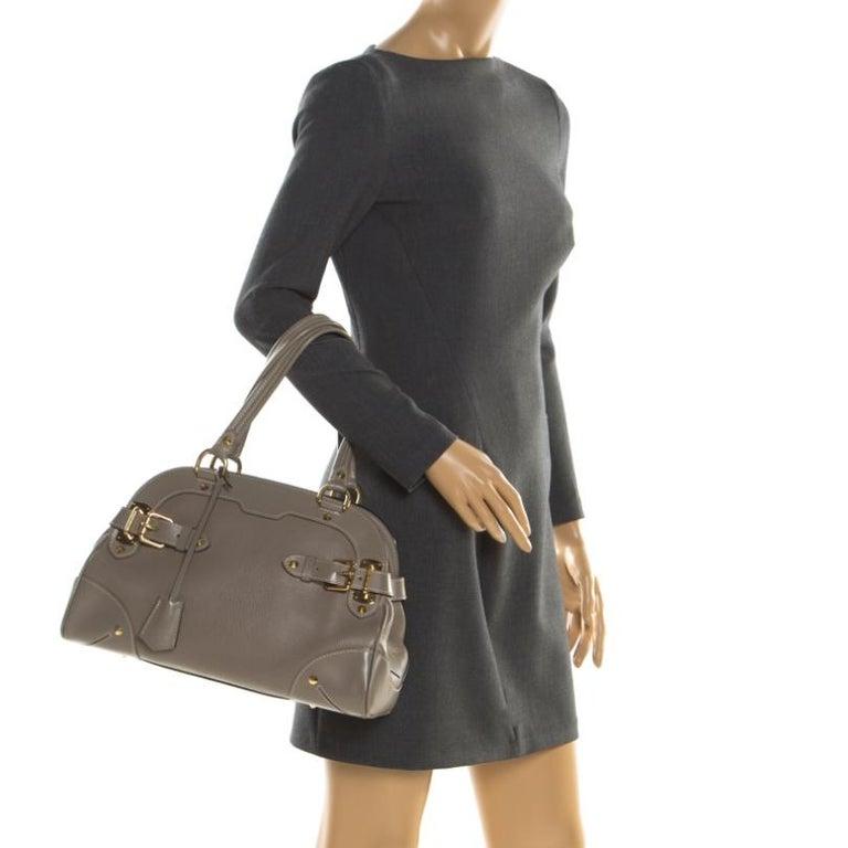 Gray Louis Vuitton Verone Suhali Leather Le Radieux Bag For Sale