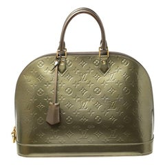 Louis Vuitton Vert Bronze Monogram Vernis Alma GM Bag
