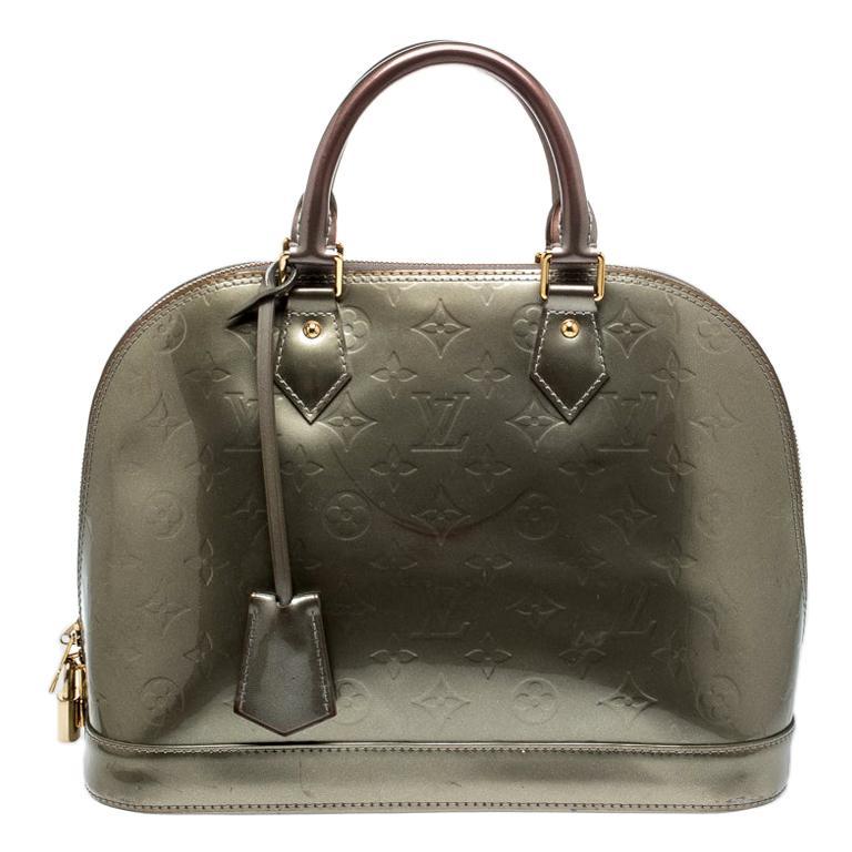 Louis Vuitton Vert Bronze Monogram Vernis Alma Pm Bag For Sale At 1stdibs