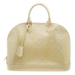 Louis Vuitton Vert Impression Monogram Vernis Alma GM Bag