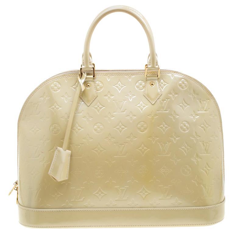 Louis Vuitton Vert Impression Monogram Vernis Alma GM Bag For Sale