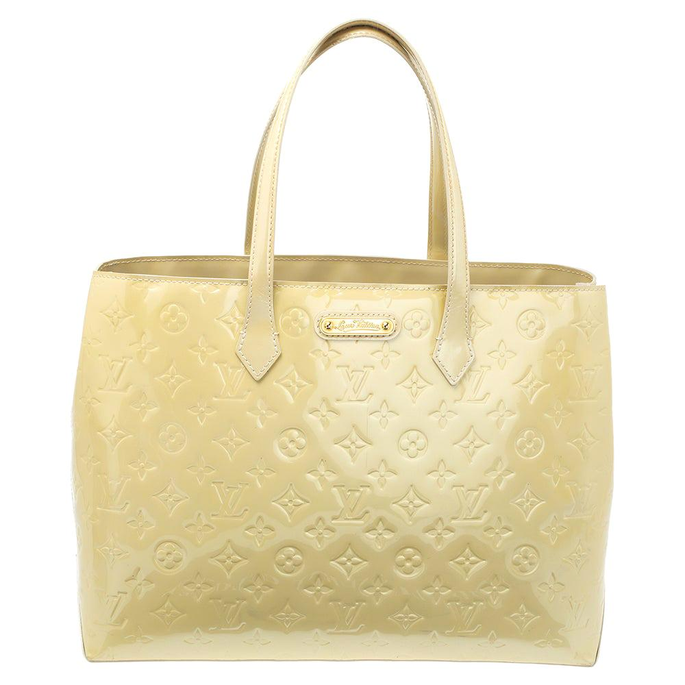 Louis Vuitton Vert Impression Monogram Vernis Wilshire MM Bag