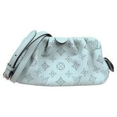 Louis Vuitton Vert Lagon Monogram Mahina Scala Mini Pouch Clutch/ Crossbody Bag