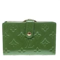 Louis Vuitton Vert Tonic Monogram Vernis Port Feuille Vienoise French Purse Wall
