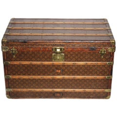 Louis Vuitton Vinage Malle Haute 110 Monogram Canvas Trunk
