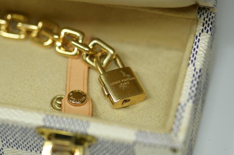 Women's or Men's Louis Vuitton Vintage 18 Karat Gold Charm Bracelet with Original Case For Sale