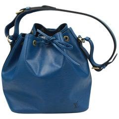 Louis Vuitton Vintage 1995 Blue  Epi Leather Noe Bag