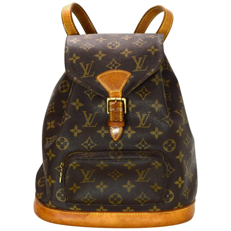 ffc0e1eb929c Louis Vuitton Vintage 90s LV Monogram Canvas Montsouris MM Backpack Bag For  Sale at 1stdibs