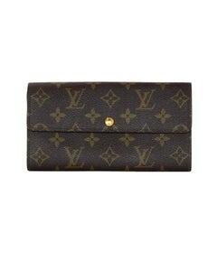 Louis Vuitton Vintage 90's LV Monogram Long Snap Wallet