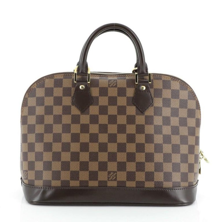 Louis Vuitton Vintage Alma Handbag Damier PM In Good Condition For Sale In New York, NY