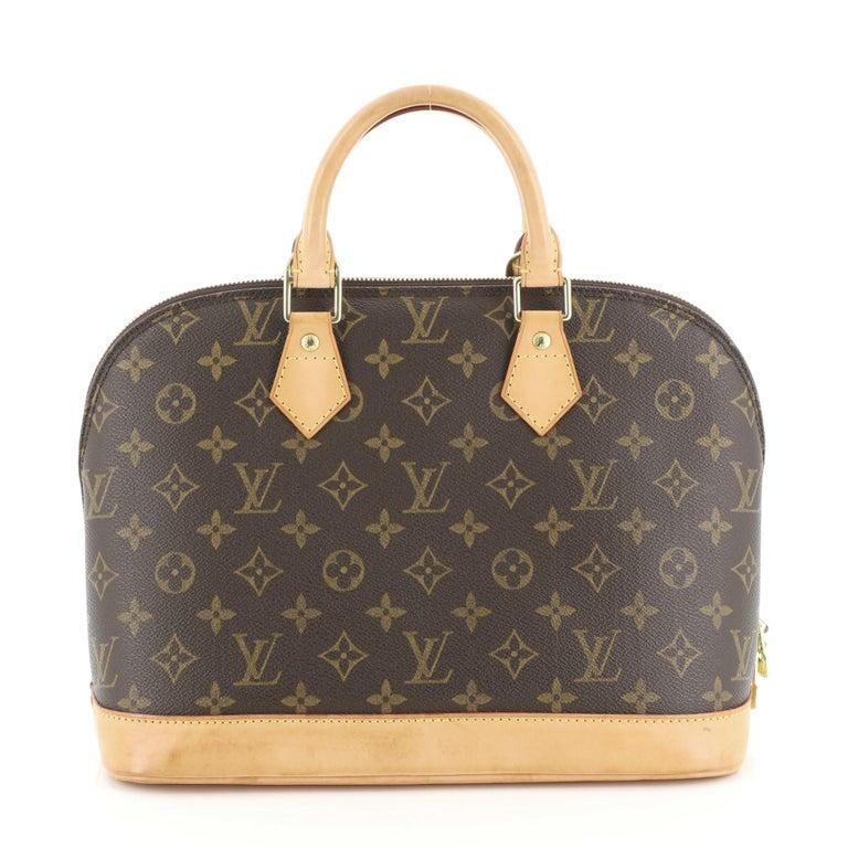 Louis Vuitton Vintage Alma Handbag Monogram Canvas PM In Good Condition For Sale In New York, NY