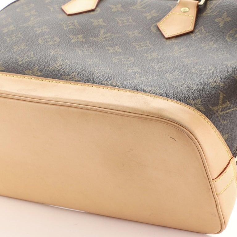 Louis Vuitton Vintage Alma Handbag Monogram Canvas PM For Sale 2