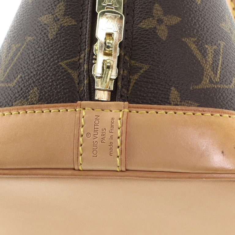Louis Vuitton Vintage Alma Handbag Monogram Canvas PM For Sale 4