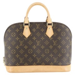 Louis Vuitton Vintage Alma Handbag Monogram Canvas PM