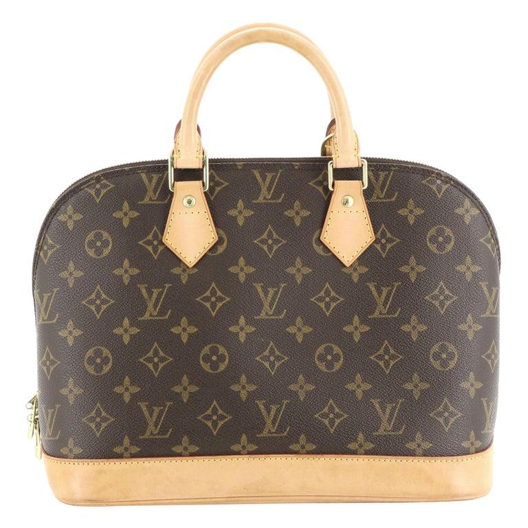 Louis Vuitton Vintage Alma Handbag Monogram Canvas PM For Sale