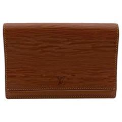 Louis Vuitton Vintage Beige Epi Leather Belt Bag Pouch