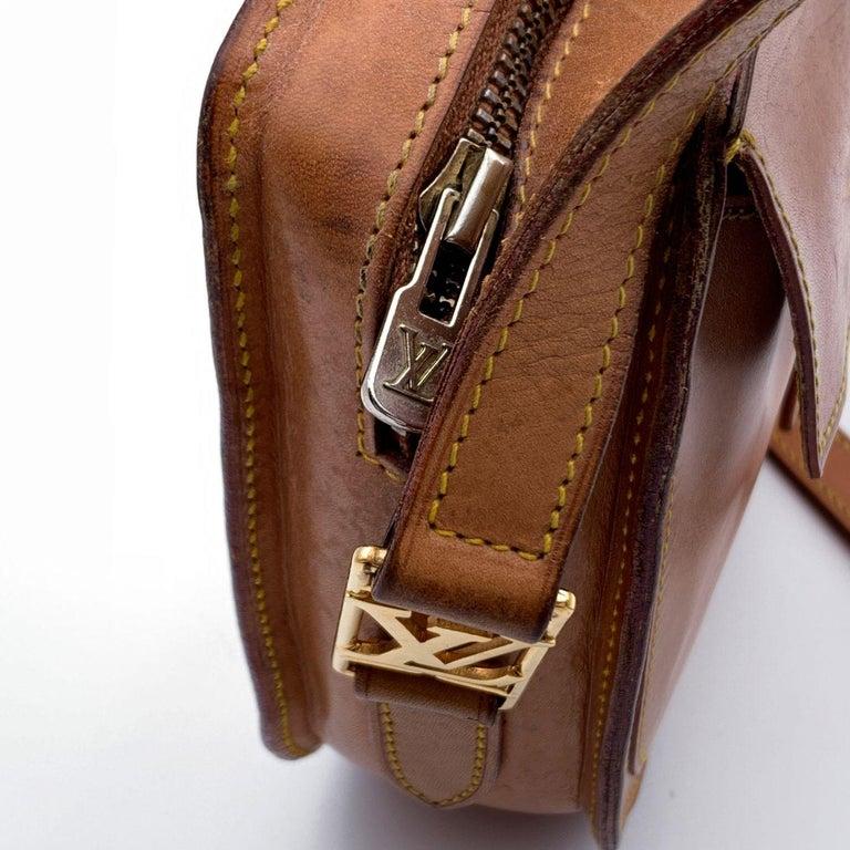 Women's Louis Vuitton Vintage Beige Leather Jeune Fille Messenger Bag