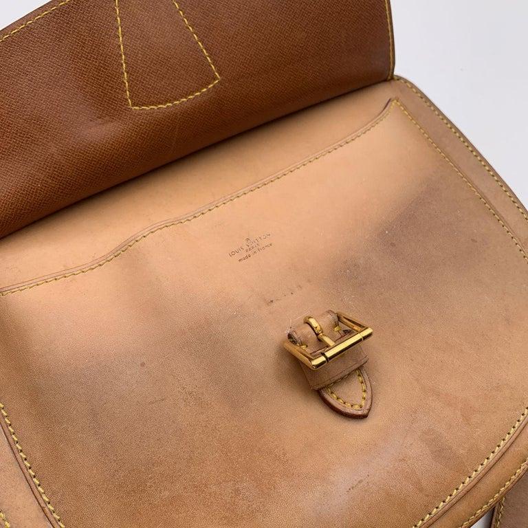 Louis Vuitton Vintage Beige Leather Jeune Fille Messenger Bag 1