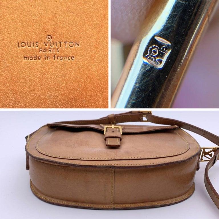 Louis Vuitton Vintage Beige Leather Jeune Fille Messenger Bag 2