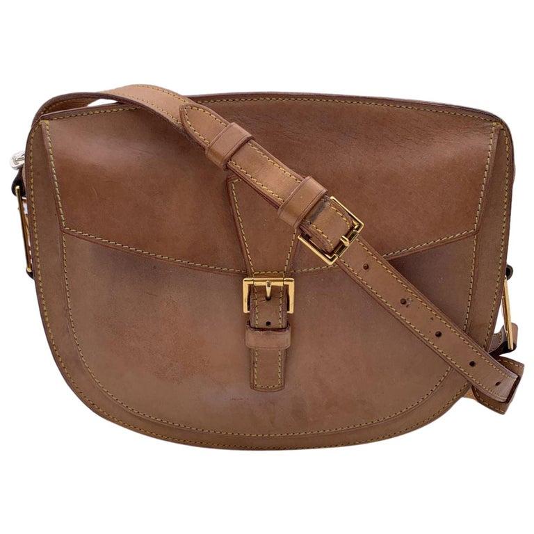 Louis Vuitton Vintage Beige Leather Jeune Fille Messenger Bag