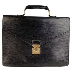 Louis Vuitton Vintage Black Epi Leather Ambassadeur Briefcase
