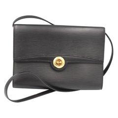 Louis Vuitton Vintage Black Epi Leather Arche Shoulder bag or Clutch