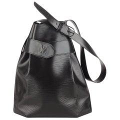 Louis Vuitton Vintage Black Epi Leather Sac d'Epaule Bucket Shoulder Bag