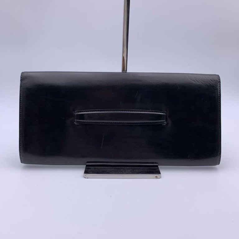 Louis Vuitton Vintage Black Leather Opera Egee Clutch Bag For Sale 1
