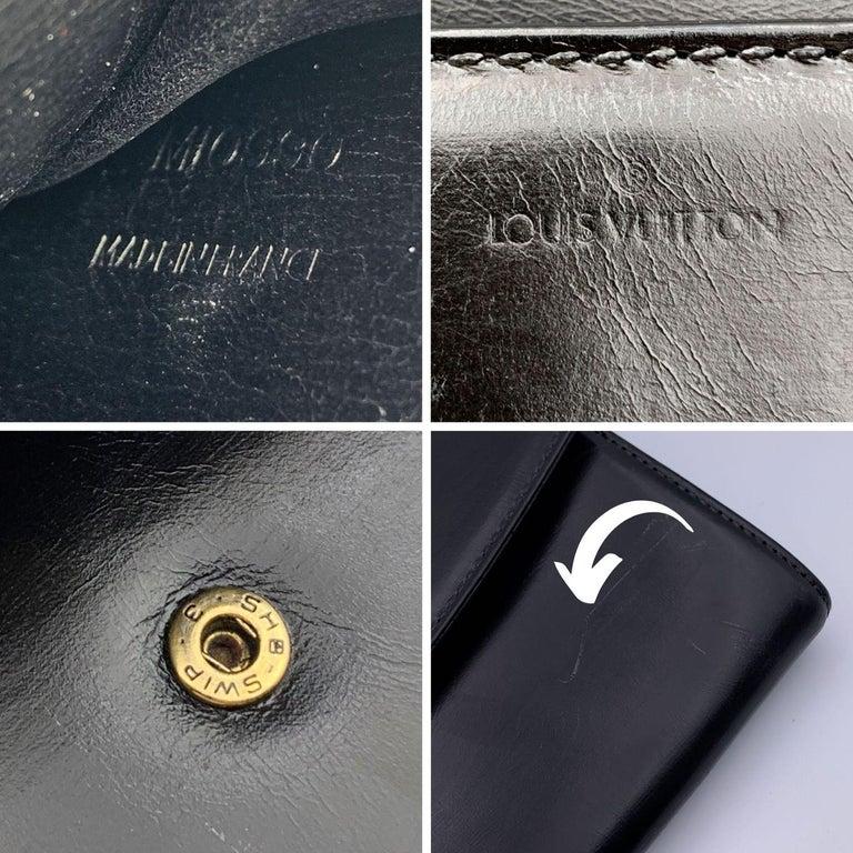 Louis Vuitton Vintage Black Leather Opera Egee Clutch Bag For Sale 3