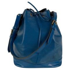 Louis Vuitton Vintage Blue Epi Leather Noé Shoulder Bag Bucket Noe