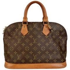 Louis Vuitton Vintage Brown Monogram Canvas Alma Bag