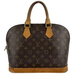 Louis Vuitton Vintage Brown Monogram Canvas Alma Top Handle Bag