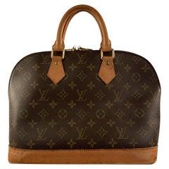Louis Vuitton Vintage Brown Monogram Canvas Alma Top Handle Handbag