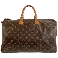Louis Vuitton Vintage Brown Monogram Canvas Speedy 40 Bag