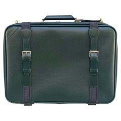 Louis Vuitton Vintage Green Taiga Leather Suitcase 53cm